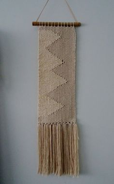Hanging Zigzag Woven Tapestry by racheljOK on Etsy, $100.00