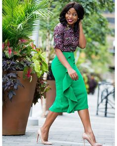 You're going places in . Corporate Outfits For Women, Business Outfits, Business Attire, Corporate Style, Corporate Fashion, Business Fashion, Ruffle Skirt, Ruffles, Work Attire