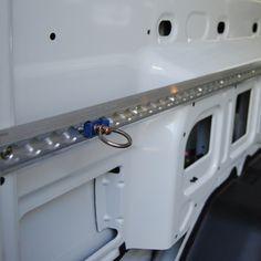 Transit Aluminum Lashing Rail http://www.commercialvanshelving.com