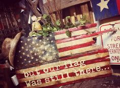 Another flag on old barn wood. Love these