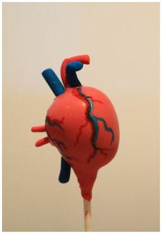 Anatomically correct heart cake pop