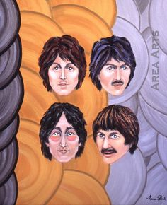 Fab Four painting by Grace Slick of Jefferson Airplane/Starship.