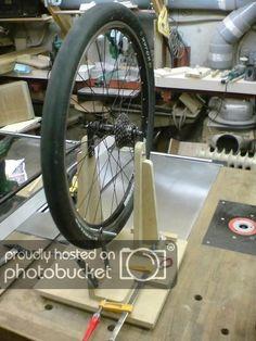 DIY Wheel Truing Stand - Tokyo Cycling Club Bike Repair Stand, Mountain Biking, Gym Equipment, Cycling, Bicycle, Tokyo, Club, Diy, Biking
