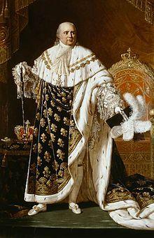 Louis XVIII, the Desired. Hermano mayor de luis XVII. En la revolución francesa logró escapar a Bélgica.