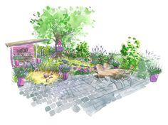 Déco jardin : Comment créer un jardin familial ? // http://www.deco.fr/jardin-jardinage/jardin-ornement/actualite-600294-amenager-jardin-familial-conseil-paysagiste.html