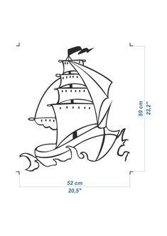 Wall Decal nautical decor boat Pirate ship wall art, nautical decor ship decal, ship wall sticker is part of Nautical decor Boat - svetulka ref si shop Wall Sticker, Wall Decals, Crab Illustration, Wooden Wall Hooks, Disney Drawings, Coastal Decor, Wall Art Decor, Pirates, Nautical