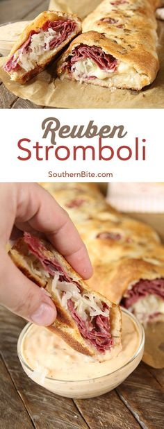 Give the classic sandwich a fun makeover your family will love with this Reuben Stromboli recipe!