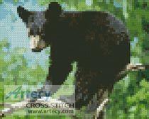 Mini Black Bear Cub Cross Stitch Pattern http://www.artecyshop.com/index.php?main_page=product_info&cPath=11_12&products_id=62