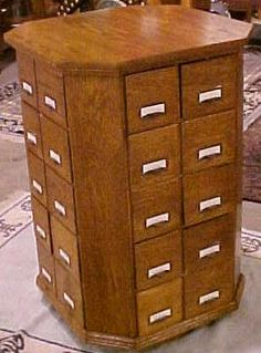 Revolving Nut and Bolt Cabinet, BRASS LANTERN ANTIQUES