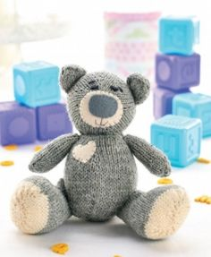 Oliver the Teddy - free knitting pattern download on the LK blog!