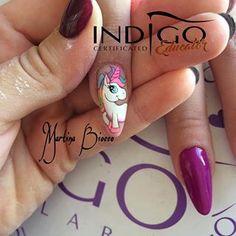Cartoon Nail Designs, Animal Nail Designs, Girls Nail Designs, Unicorn Nails Designs, Unicorn Nail Art, Square Nail Designs, Pretty Nail Designs, Nail Art Designs, Love Nails