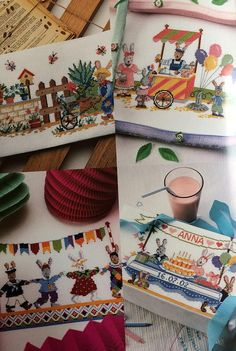 DMC counted cross stitch booklet Fun with rabbits