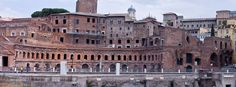 The first shopping centers of Antiquity or how Romans invented the malls. Trajan's Market in Rome