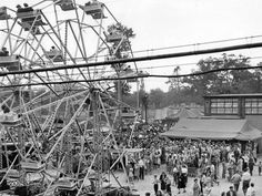 The ferris wheel thrilled riders adding their shouts to the chant of the carnival barkers and other myriad sounds along the Johnny Jones Exposition midway at the 1946 Indiana State Fair.