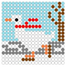 Afbeeldingsresultaat voor thema kikker in de kou Melting Beads, Knitting Charts, Hama Beads, Bead Crafts, Cross Stitch Patterns, Crafts For Kids, Projects To Try, School, Labyrinths