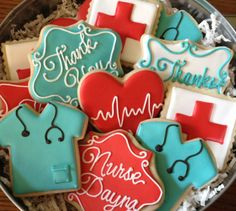 Christmas Gift for Heath Care Providers. These are so cute! Nurse or Physician Appreciation Sugar Cookie by NotBettyCookies, $36.00
