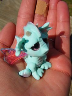 OOAK Handmade Polymer Clay Tiny Baby Dragon by Woodlandkreatures