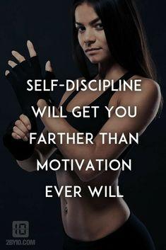 SELF- DISCIPLINE WILL GET YOU FARTHER THAN MOTIVATION EVER WILL. #femalefitnessmotivation