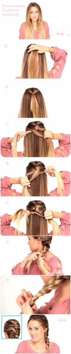 how to do French braid hair
