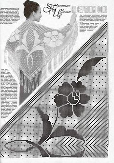 Mix it Up Shawl / Omslagdoeken / HakenButterfly chart for filet crochet.Kira scheme crochet: Scheme crochet no. Crochet Shawl Diagram, Filet Crochet Charts, Crochet Stitches, Shawl Patterns, Stitch Patterns, Crochet Patterns, Crochet Home, Diy Crochet, Shawls And Wraps