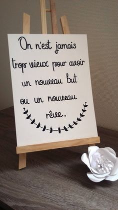 """affiche citation """"On nest jamais trop vieux"""" Motivational Quotes, Inspirational Quotes, Never Too Old, Quote Citation, French Quotes, Magic Words, Old Quotes, Smile Quotes, Quote Posters"""