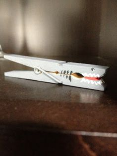Shark clothespin! Easy to make!