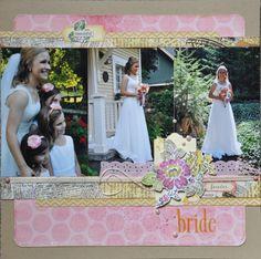 Bride - Scrapbook.com - #scrapbooking #layouts #wedding #americancrafts #basicgrey