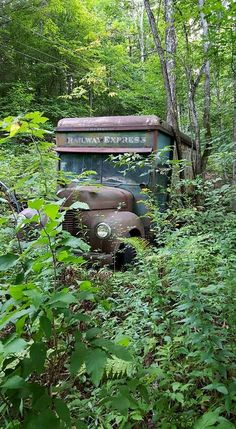 Abandoned Railway Express Agency truck.