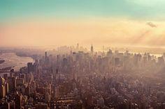 beautiful shot of the new york skyline