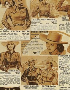 Vintage western shirts - a distinct look that has never been out of fashion.Mens & womens vintage western shirts from the to now Vintage Western Wear, Vintage Cowgirl, Cowboy And Cowgirl, Cowgirl Shirts, Cowboys Shirt, Western Shirts, Equestrian Outfits, Equestrian Style, Western Outfits