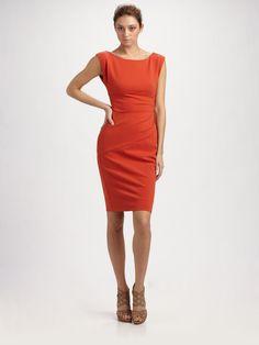 Diane Von Furstenberg Jori Dress in Orange (black)