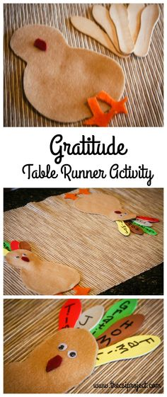 DIY Gratitude Thanksgiving Table Runner- great for getting youngsters involved!