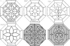 octagon stained glass patterns