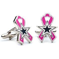Dallas Cowboys Breast Cancer Awareness Cufflinks