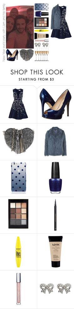 """New Year eve's party with Liam and his family"" by michaelssmile ❤ liked on Polyvore featuring Prabal Gurung, GUESS, PARENTESI, Topshop, Kate Spade, OPI, Forever 21, H&M, Maybelline and NYX"
