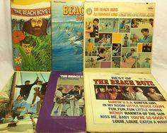 Beach Boys Lot of 6 Vinyl Record Albums -  #SingerSongwriter