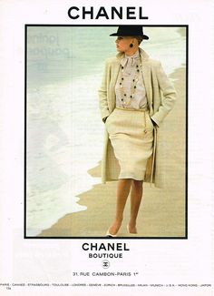 Publicite Advertising 114 1981 Chanel Boutique Haute Couture   eBay