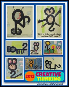 Creative Thinking in Children via RainbowsWithinReach: what images can you make with numbers 2013?