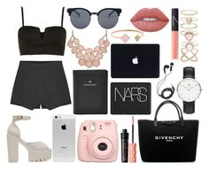 """""""I BELIEVE I CAN TASTE THE SKY"""" by patricia-manso ❤ liked on Polyvore featuring Topshop, Michael Kors, Quay, NARS Cosmetics, Givenchy, FOSSIL, Daniel Wellington, Accessorize, Benefit and Lime Crime"""