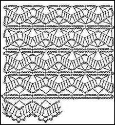 PATRONES - CROCHET - GANCHILLO - GRAFICOS: GANCHILLO Y SU GRAFICOS O PATRONES , CROCHET Y SU GRAFICOS