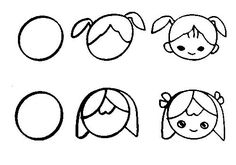 Free learn draw cartoon page,free printable kids step by step draw pictures