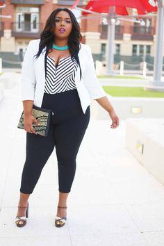 Stylish Plus-Size Fashion Ideas – Designer Fashion Tips Fat Fashion, Curvy Girl Fashion, Look Fashion, Plus Fashion, Womens Fashion, Cheap Fashion, Fashion Vest, Fashion Stores, High Fashion