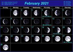 February 2021 Moon Calendar