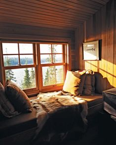 Cabin Bedrooms 9 of the Coziest Cabin Bunk Rooms Kids and Cars: Tips to Keep Your Children Safe Acco Cabin Loft, Cozy Cabin, Cozy Nook, Zelt Camping, Bunk Rooms, Kabine, Loft Spaces, Small Spaces, Cabin Homes