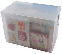 Card Storage Box - Click to enlarge Card Storage, Storage Chest, Storage Ideas, Cropper Hopper, Craft Organization, Organizing Ideas, Boxing News, New Hobbies, Toy Chest