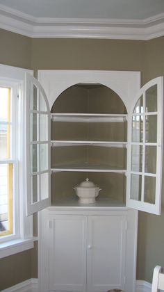 Image Detail For  ... Blank Slate Of A Built In Curio Cabinet