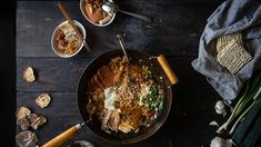 You searched for budae jjigae - Two Red Bowls Blogger Templates, Army Stew, Korean Rice Cake, Pumpkin Salad, Canned Meat, Red Bowl, Korean Food, Korean Dishes, Rice Cakes