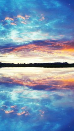 Nature Pure Lake Landscape #iPhone #6 #plus #Wallpaper