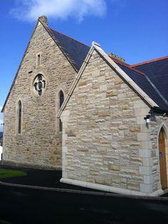 Ballinamallard Church - McMonagle Stone Beach House, Restoration, Stone, Architecture, Building, Beach Homes, Arquitetura, Rock, Buildings
