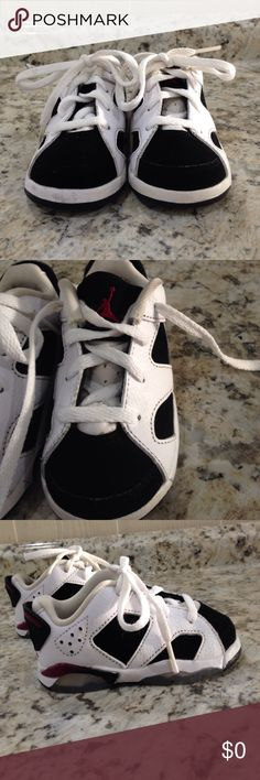 finest selection f5867 e7136 NEW LISTING Toddler Jordan Sneakers White, black and dark red (burgundy).  Worn